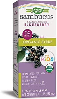 Nature's Way Sambucus for Kids, Organic Elderberry Syrup, 4 oz, 4 Fluid Ounce