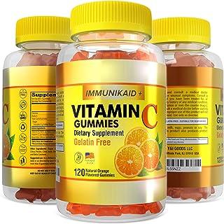 120 Vitamin C Gummies Chewable Immune Support- Kosher Vegan Halal, 520mg VIT C Plus Rose Hips Blend, Potent Health Immunit...