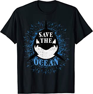 Save the Ocean Black Whale Orcas - Environmental Message T-Shirt