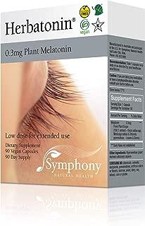 Herbatonin 0.3mg – The Only Natural Plant Melatonin – 90 Vegan Capsules (90 Day Supply) Low Dose Melatonin, Natural Sleep and Circadian Rhythm Support