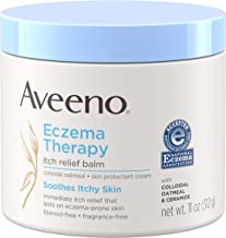 Aveeno Eczema Therapy Itch Relief Balm with Colloidal Oatmeal & Ceramide for Dry Itchy Skin, Non-Greasy, Steroid-, Fragran...