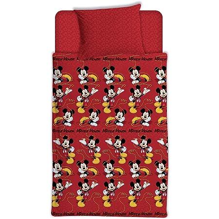 Asditex Juego de Sábanas Coralina Infantil Mickey Mouse, 3 Piezas (1 Sábana Encimera, 1 Funda de Almohada y 1 Sábana Bajera), 2 Medidas (90 cm-105 cm) (90 cm)