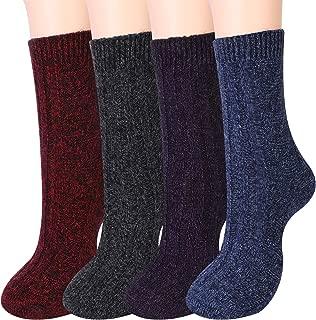 Moyel Wool Winter Socks Women, Warm Cozy Soft Comfy Thermal Vintage Boot Socks