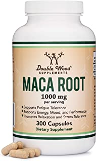 Maca Root Capsules (Black, Red, Yellow Maca Powder - 1,000mg per Serving) 300 Count for Men and Women. Grown in Peru (for ...