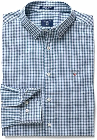 GANT Tech Prep Regular Gingham Oxford Shirt Camisa para Hombre