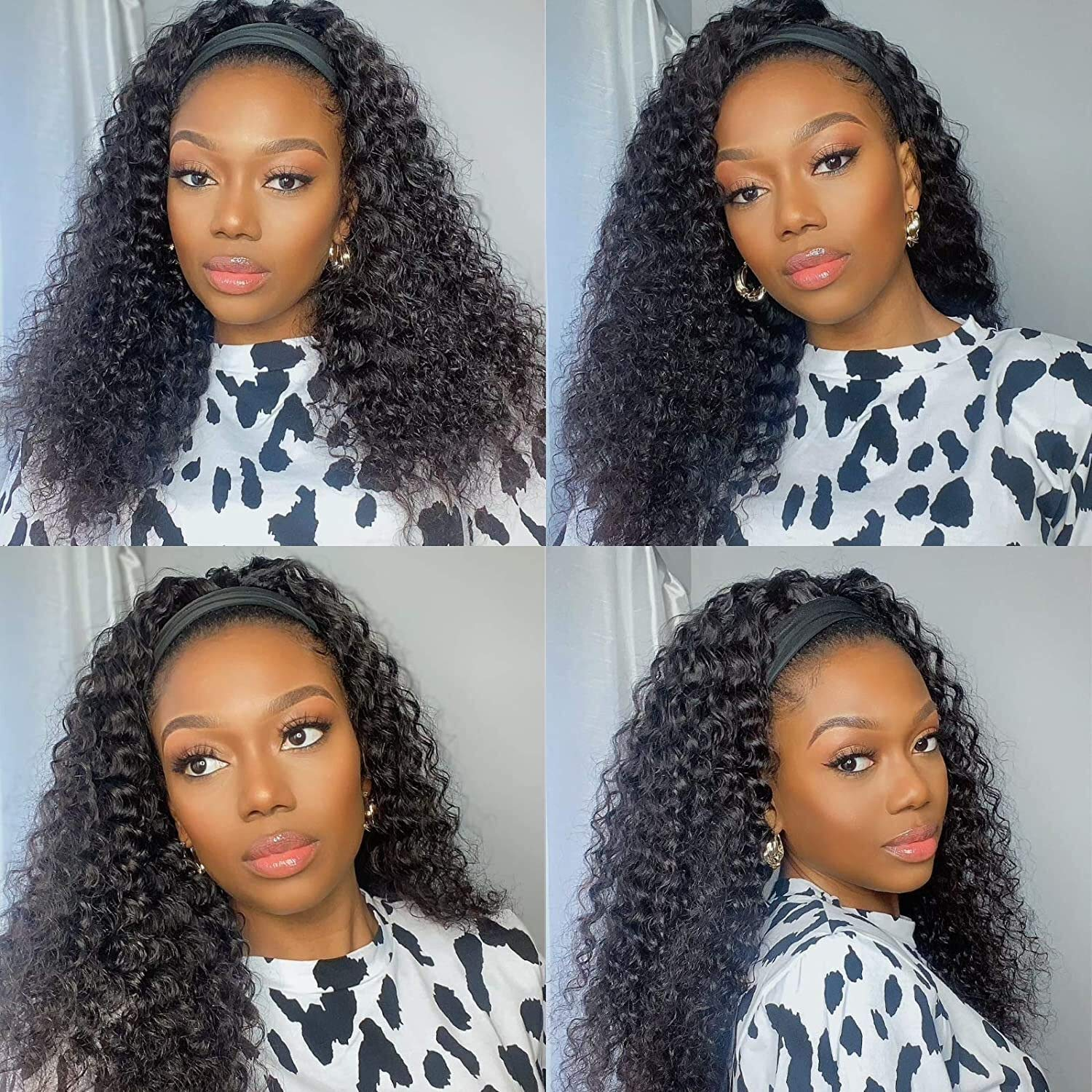 Deep All stores are Max 81% OFF sold Wave Headband Wig Glueless Human W Hair