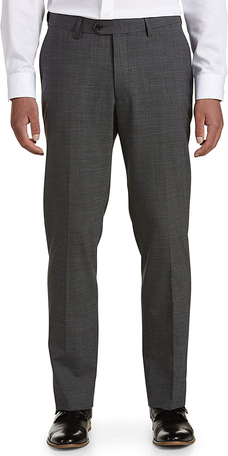 DXL Synrgy Big and Tall Performance Stretch Suit Pants, Grey