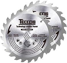 TECCPO 2x Hoja de Sierra Circular 185mmx20mm, TCT, 24 Dientes, Cortar Madera, Compatible con todas las Sierras Circulares del Mismo Tamaño -TACB25A
