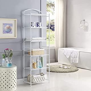 HOMEFORT Metal Bathroom Shelf,6-Tier Tower Rack, Freestanding Storage Organizer, Metal Shelving Unit with 6-Tier Durable Shelves for Bathroom, Kitchen, Living Room, Laundry,19.49