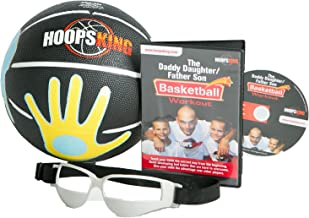 HoopsKing Father Son/Daughter Youth Basketball Fun Pack with DVD, 28.5