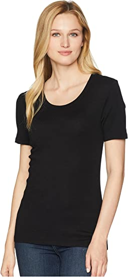 Michael Stars Shine Short Sleeve Scoop Neck Tee