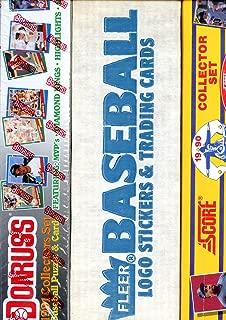 1987 Fleer 1990 Score 1991 Donruss Baseball Card Complete Set FACTORY Box