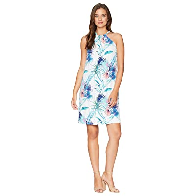Tommy Bahama Fronds Ferdinan Halter Dress (White) Women