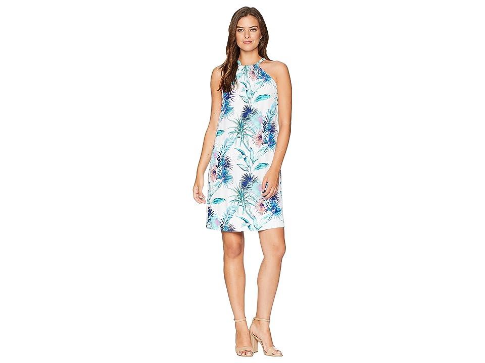 Tommy Bahama Fronds Ferdinan Halter Dress (White) Women