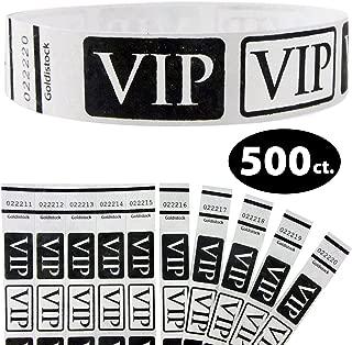 Tyvek Wristbands - Goldistock VIP Deluxe