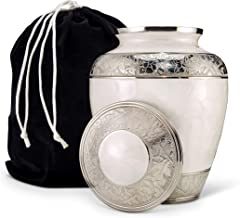 BIERKEN - FUNERAL SUPPLIES - Urns for Human Ashes - The Peal Rose Adult Cremation Urn