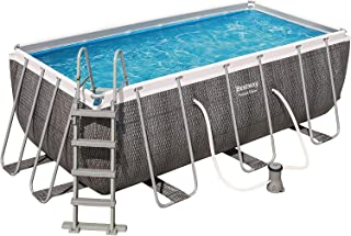 Bestway Power Steel - Piscina tubular rectangular (4,4 x 2,01 x 1,00 mm, efecto resina)