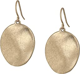 Wavy Disc Drop Earrings