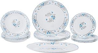 Luminarc DL7645 Opal Romantique Feston 19 Pieces Dinner Set, White, Opal