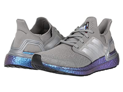 adidas Kids UltraBOOST 20 (Big Kid) (Dove Grey/Boost Blue Metallic) Kid