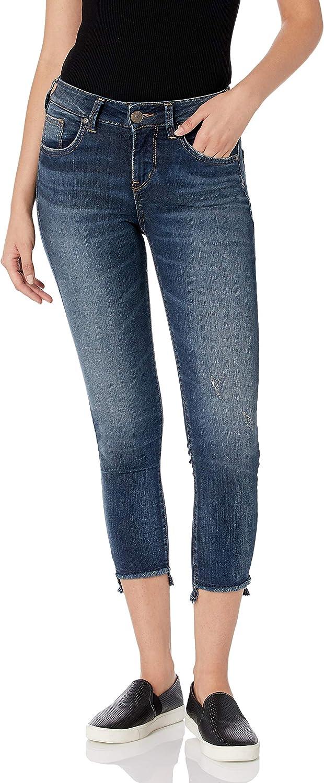 Silver Jeans Co. Fashion Finally resale start Women's Avery Curvy-fit Rise J Skinny High Crop