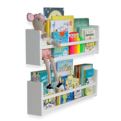 Wall Mounted Bookcases Amazon Com