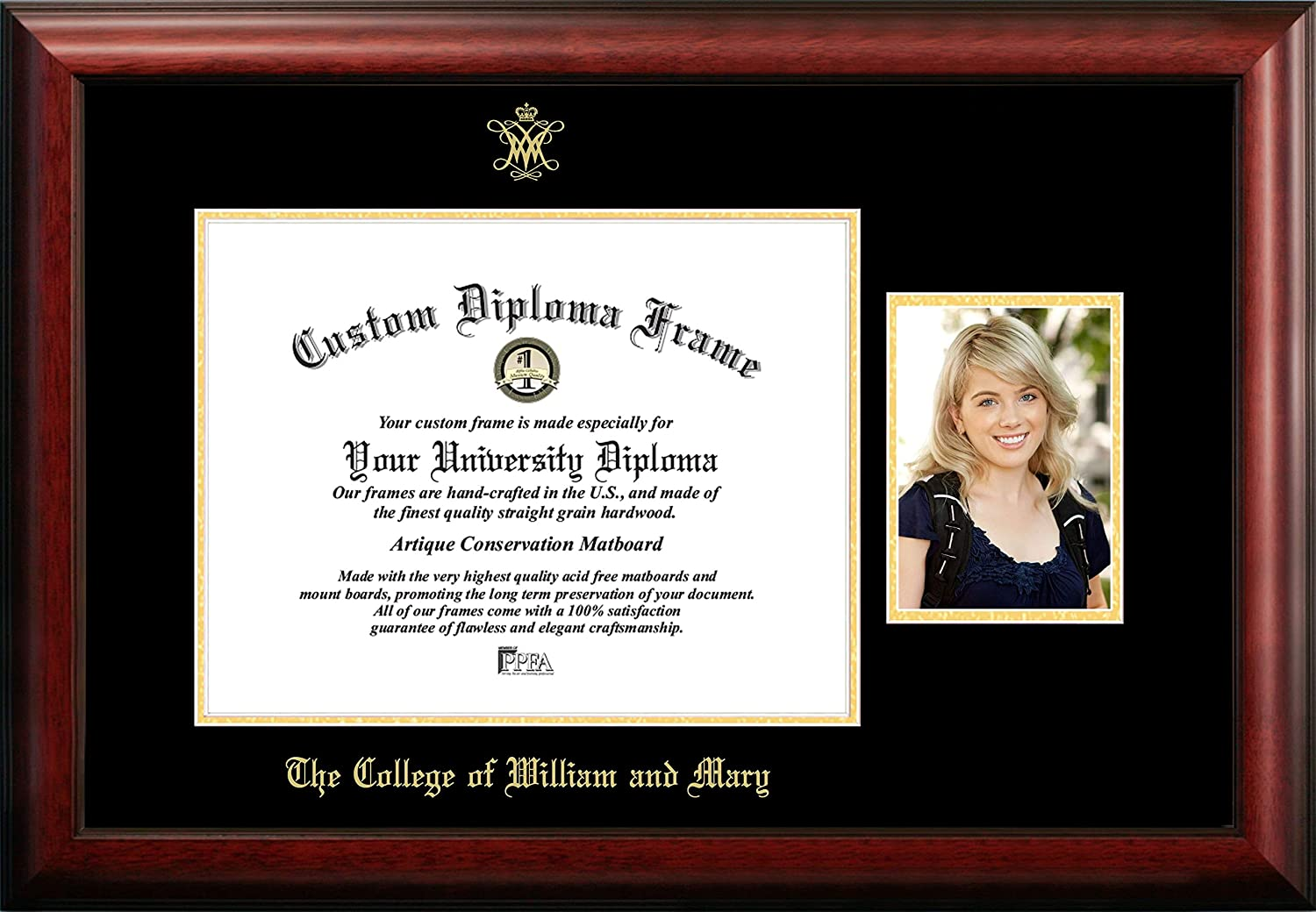Campus Images depot Super popular specialty store NCAA Unisex Gold Embossed Diploma Frame x7 5 with