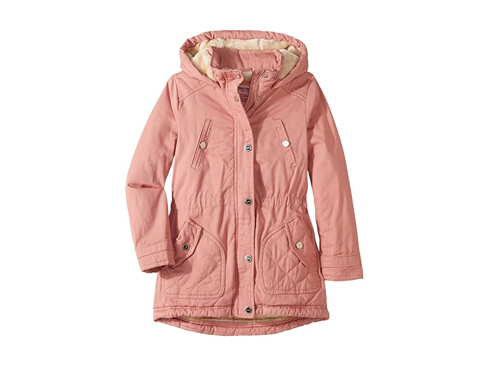 Urban Republic Kids Natasha Cotton Twill Anorak Jacket (Little Kids/Big Kids) (Rose Smoke) Girl