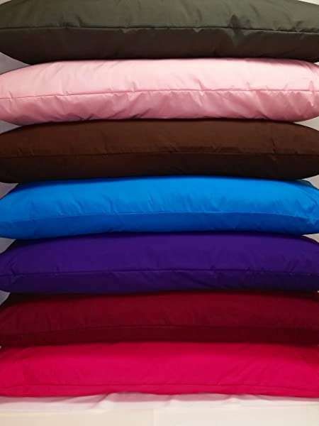 MoonRest 100 棉身体枕头保护套带拉链紫色 21X54 带拉链