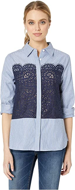 Audreanna Button Down Long Sleeve Woven Top