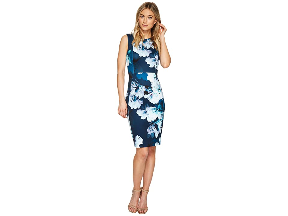 Calvin Klein Floral Sheath Dress CD7MK83X (Cypress Multi) Women