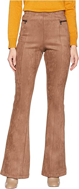 Faux Suede Flared Legging