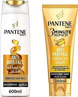 Pantene Pro-V Anti Hair Fall Shampoo 600 ml + 3 Minute Miracle Conditioner 200 ml