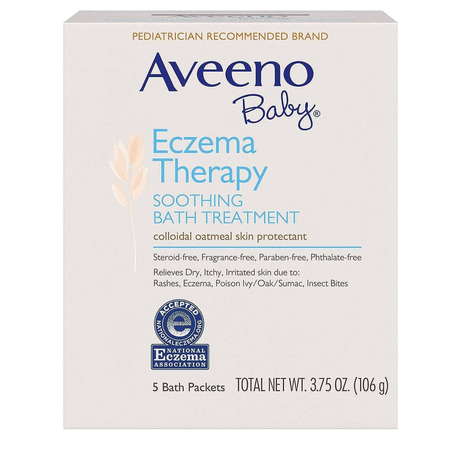仮定、想定。推測ハンカチ血統〈海外直送品〉AVEENO? Baby Eczema Therapy SOOTHING BATH TREATMENT - 5パック(106g) アヴィーノ スーシング バストリートメント