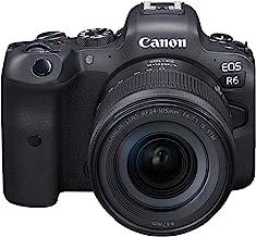 Canon EOS R6 cámara sin espejo de marco completo + RF24-4.134in F4-7.1 es kit de lente STM, negro (4082C022)