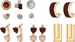 GUESS - 9 Set Mixed Earrings - Studs, Hoops, Drop