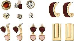 GUESS - 9 Set Mixed Earrings - Studs, Hoops, Drop