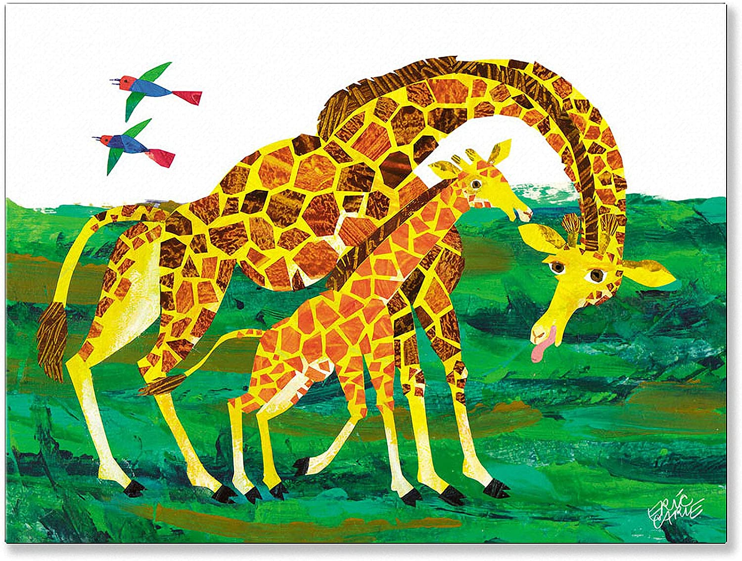 Oopsy Daisy Eric Carle's Giraffe Mother Wall Art, 24 by 18