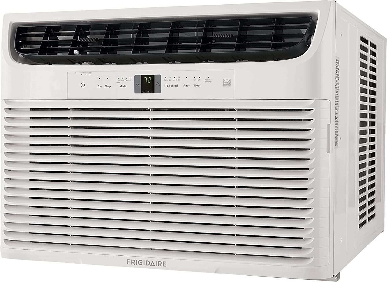 Frigidaire Energy Star 18,000 BTU 230V Window-Mounted Median Air Conditioner with Full-Function Remote Control, White