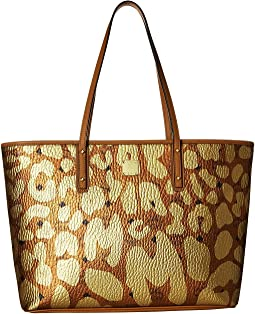 Anya Leopard Print Top Zip Shopper Medium