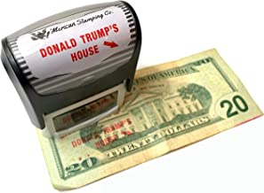 Donald Trump's House Self Inking Rubber Stamp with Red Ink and Arrow Donald Trump Lives Here Stamp