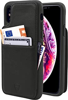 Vaultskin Eton Armour iPhone case with Leather Wallet iPhone XS Max Black PHEAMIP6B