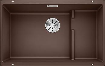 BLANCO SUBLINE 700-U nivå – underbyggnad granitspole för köket för 80 cm breda kylskåp – av SILGRANIT – brun – 523461