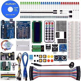 Kuman Más Completo y Avanzado de Arduino Mega Starter Kit para Arduino Uno R3 con Guías