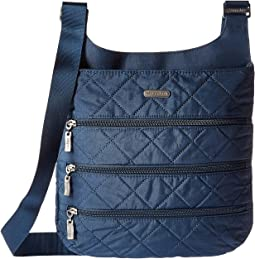 Quilted Big Zipper Bag with RFID