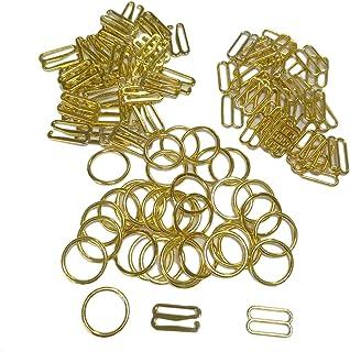 Mangocore 100 pcs/lot Bra Silver/Gold/Rose Gold Hook Ring Slider 10mm/12mm/15mm (15mm Gold Color)