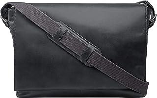 Hidesign Cooper 02 Large Messenger Bag for Men - Genuine Leather, Black