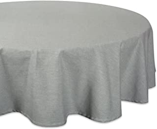 """DII 100% Cotton, Chambray Round Tablecloth, Everyday Basic, Seats 4 to 6 People, 70"""", Artichoke Green"""