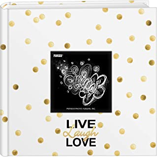 Pioneer Photo Albums EV-246/L Golden Dots Live Laugh Love 200 pkt 4x6 Pocket, Gold