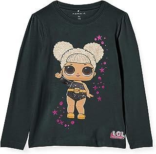 NAME IT Nmflol Tulle LS Top Box LIC Camiseta de Manga Larga para Niñas